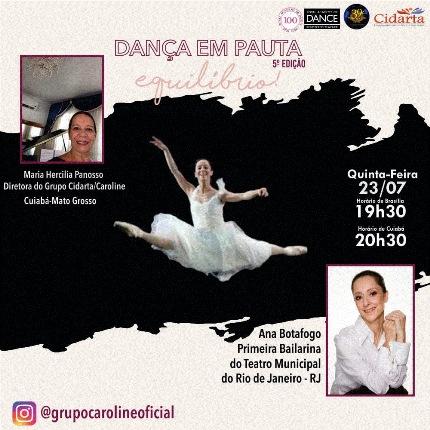 """A Bailarina Ana Botafogo em """"Dança em Pauta"""" !"""