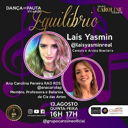"""Sucesso a Live da cantora Laís Yasmin em """" Dança em Pauta/ Equilíbrio"""